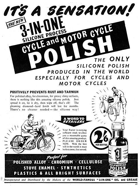 3-In-One Lubricants & Polishes