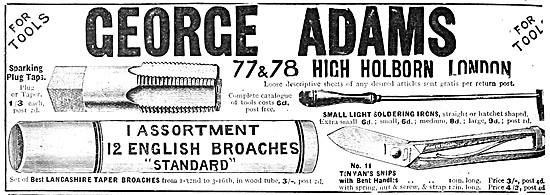 George Adams Tools - Taper Broaches