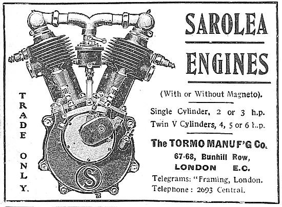 Tormo Sarolea Motor Cycle Engines