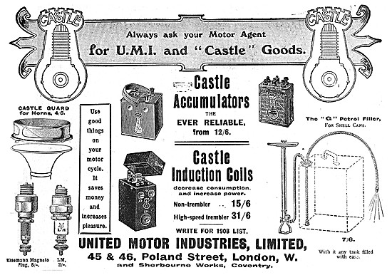 United Motor & Castle Motor Cycle Parts - UMI & Castle Components