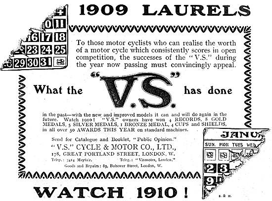 V.S.Motor Cycles - VS Motor Cycles 1909