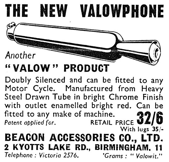 Valowphone Motorcycle Exhaust Silencer