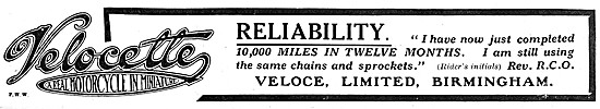 Velocette Motor Cycles 1916