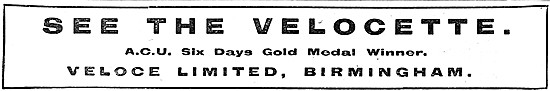 Velocette Motor Cycles 1919