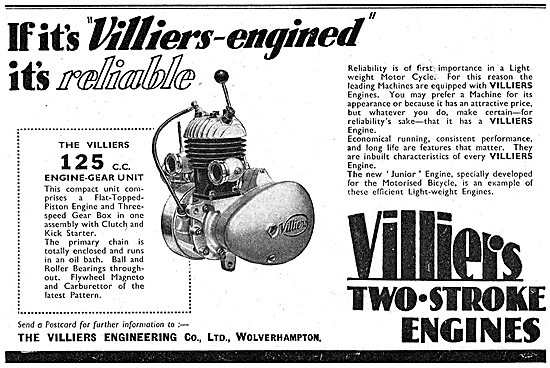 Villers Motor Cycle Engines - Villiers 125 cc Engine-Gear Unit