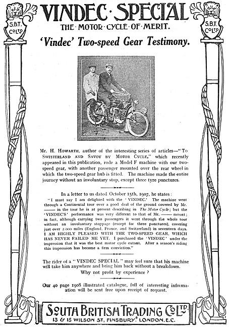 SBT Vindec Two Speed Motor Cycles