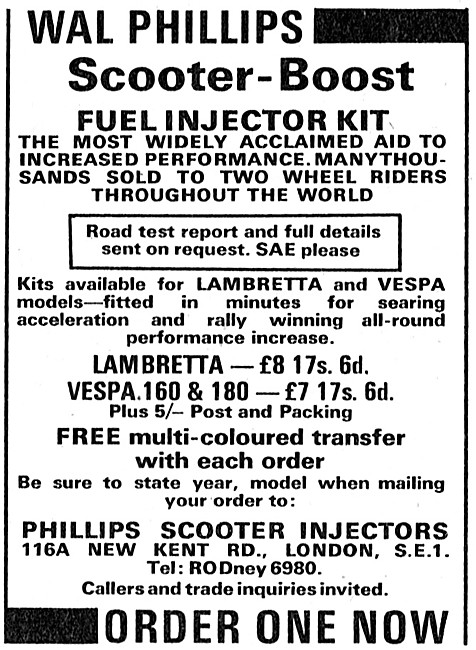 Wal Phillips Scooter-Boost Fuel Injector Kit