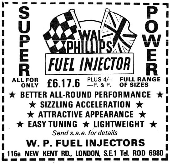Wal Phillips Fuel Injectors