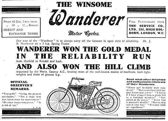 1910 Wanderer Motor Cycles - The Service Co Ltd