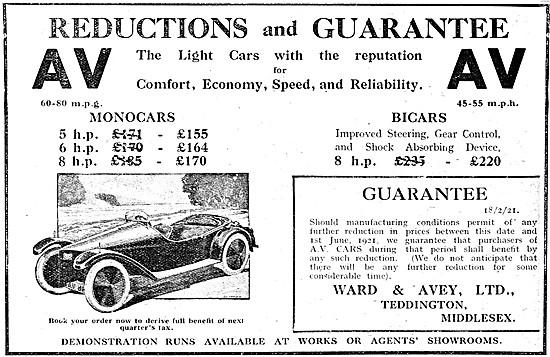 AV Cars - AV Monocar - AV Bicar