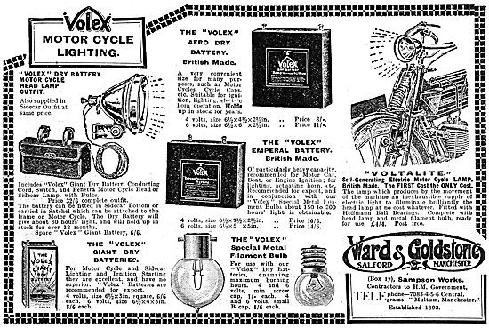 Ward & Goldstone Motor Cycle Electrical Accessories
