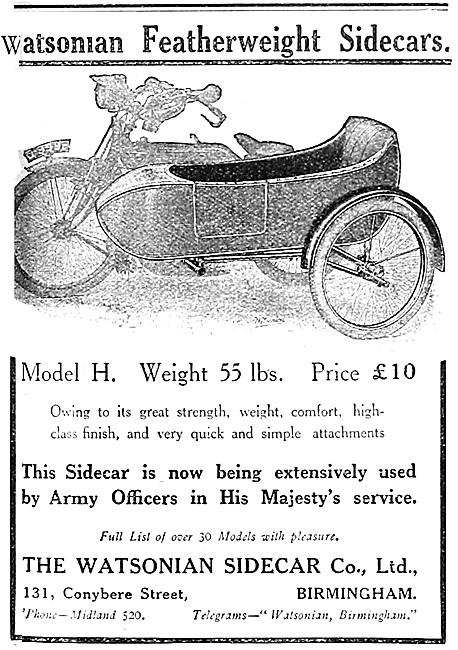 1914 Watsonian Model H Sidecar