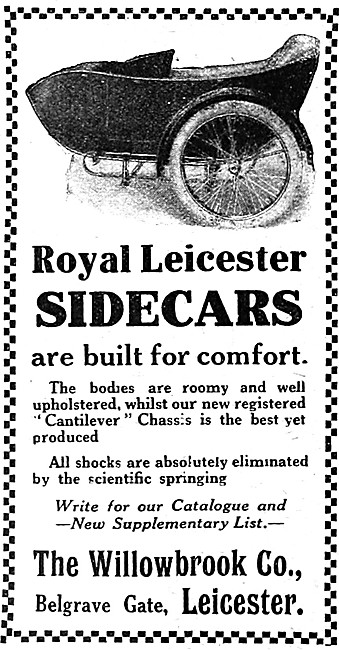 Willowbrook Royal Leicester Sidecars 1919