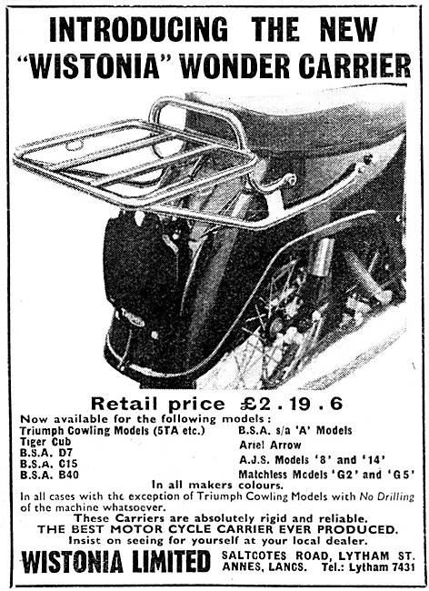 Wistonia Luggage Carrier