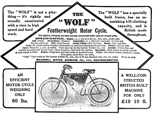 Wolf Motor Cycles 1908