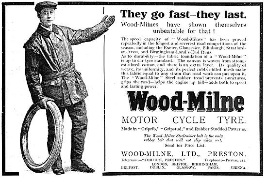 Wood-Milne Motor Cycle Tyres