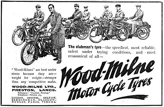 Wood-Milne Motor Cycle Tyres 1912 Advert