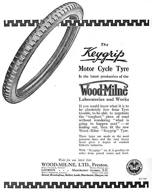 Wood-Milne Keygrip Motor Cycle Tyres & Treads