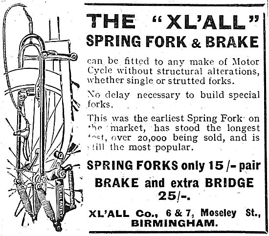 Xl'All Motor Cycle Spring Fork & Brake - XLALL