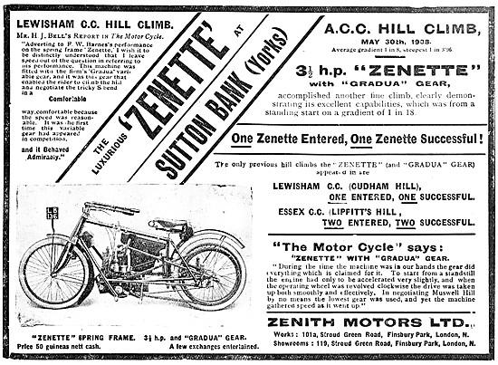 Zenith Zenette Motor Cycle